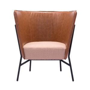 Assange Occasional Chair in Coffee and Beige
