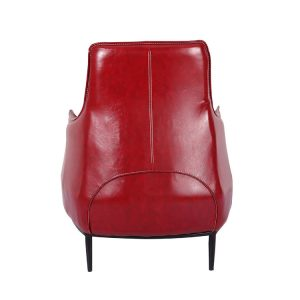 Archibald Highback Lounge Chair Red