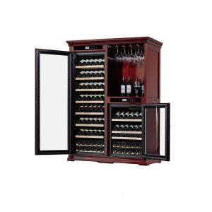 Wooden Wine Cabinet Cooler Furniture Cigar Humidor