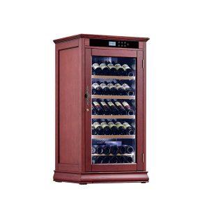 wood wine refrigerator cabinet