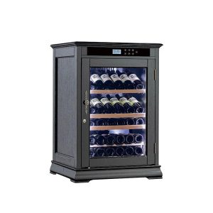 Wood Wine Cooler Cabinet Black