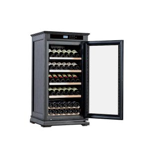 wood wine refrigerator cabinet black