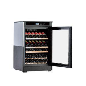 Wood Wine Cooler Cabinet Black