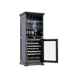 Wooden Wine Cellar Cooler Cabinet Furniture Black