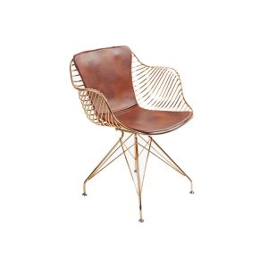 Metal Leather Dining Chairs